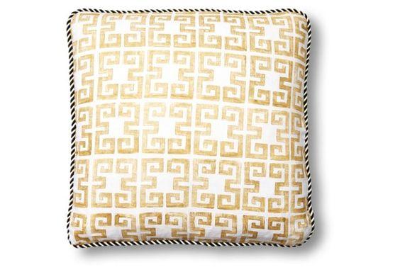 Draper 20x20 Linen Pillow, Gold