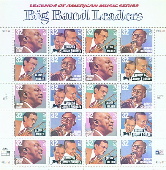 Big Band Leaders • Legends of American Music series • as part of the USPS collection • 1990s