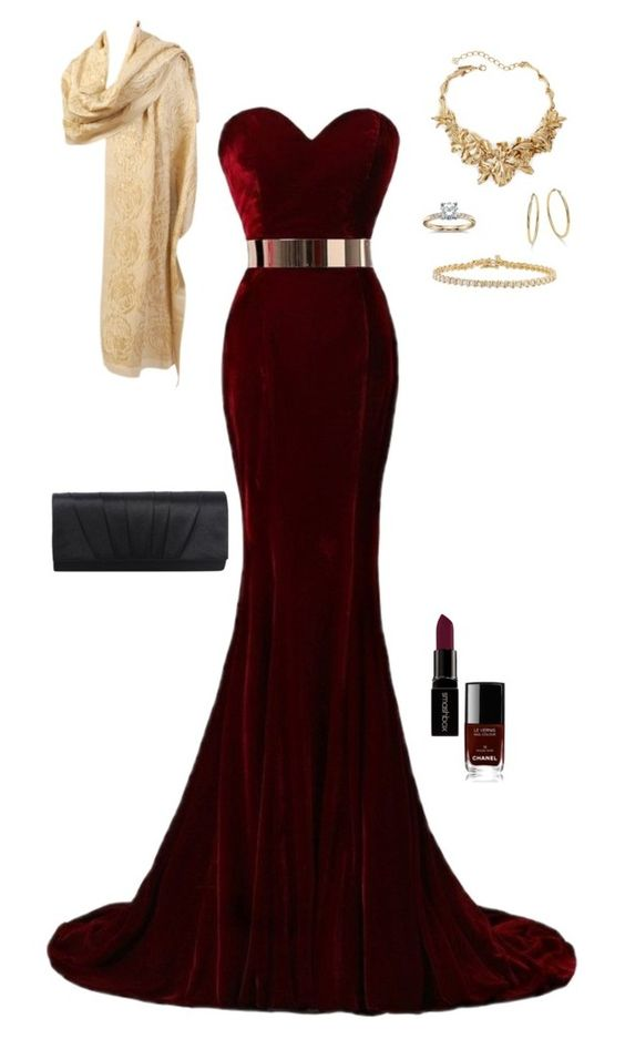 Untitled #4393 by gone-girl on Polyvore featuring polyvore fashion style Oscar de la Renta ABS by Allen Schwartz Blue Nile Smashbox Chanel clothing