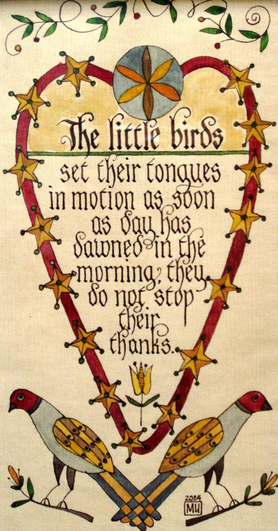 Fraktur By Marta Urban From Our Hands Hearts