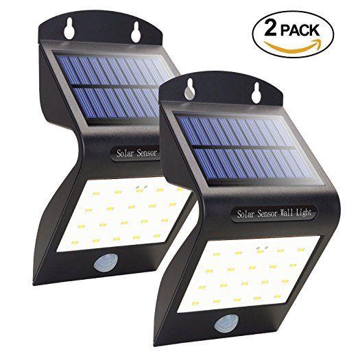 Aickar Solar Led Lights 20 Leds Wireless Motion Sensor Solar Lights Outdoor Waterproof Wall Light Solar Power Diy Outdoor Solar Lights Diy Solar Power System