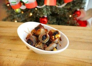 Stuffed Baked Prunes in Bacon