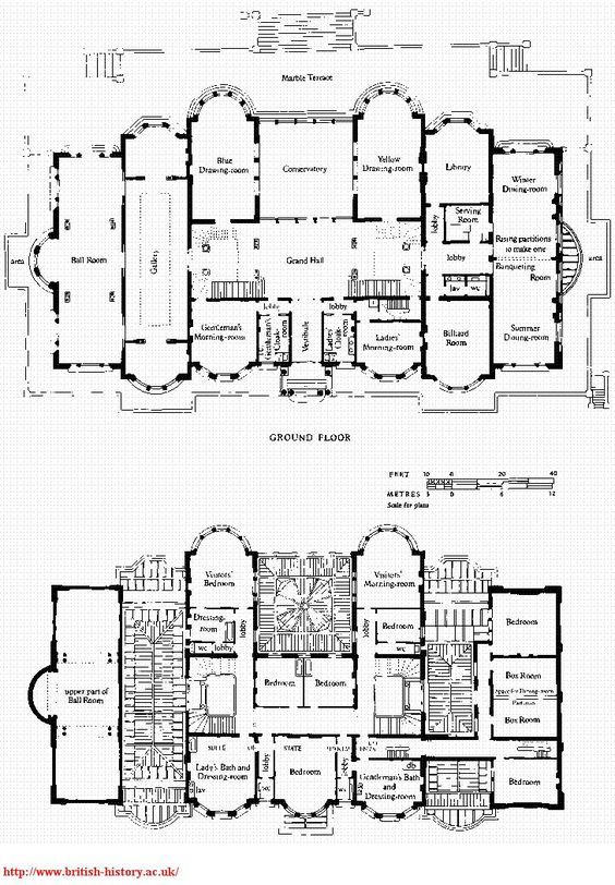Pin By James Farley On Floor Plans And Architectural Drawings Kensington House English Manor Houses Mansion Floor Plan