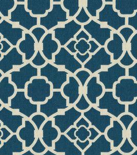 Waverly Lovely Lattice fabric in Lapis
