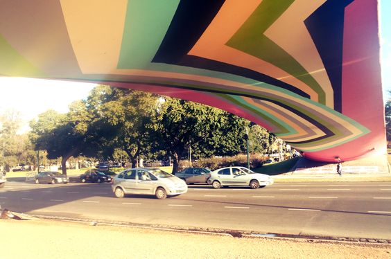 Puente Peatonal Av. Figueroa Alcorta  Recoleta, Buenos Aires