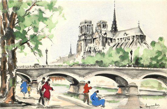 Catha C Drale Notre Dame De Paris Ville Dessin Paris Dessin Et