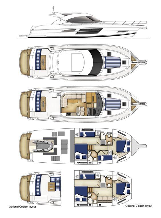 Riviera 5000 Sport Yacht Next Generation with Zeus   Layout
