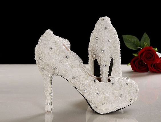 Handmade Lace wedding shoes, White lace wedding shoes,Lace bridal shoes in 2014 by ANGELBLINGBOX on Etsy https://www.etsy.com/listing/178213232/handmade-lace-wedding-shoes-white-lace