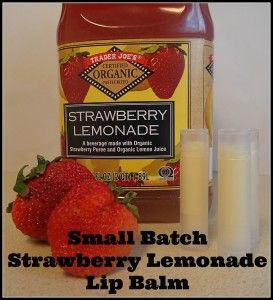 Strawberry lemonade, Lip balm and Lemonade on Pinterest