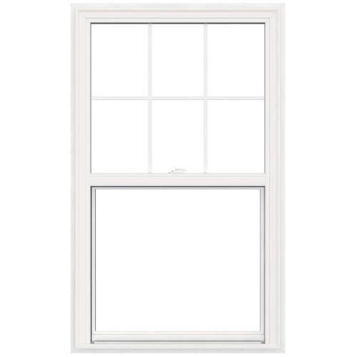 "JELD-WEN® 36"" W x 42"" H Vinyl Single Hung Window with Built-In…"