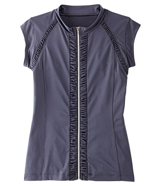 Ride-Run-Roll-Like-A-Girl Zip Top: Fashion Forward, Like A Girl, Exercise Clothes
