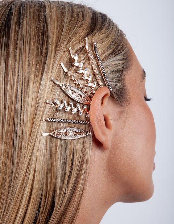 Rose Gold Boho Hair Slide 6 Pack | Lovisa Hair Accessories