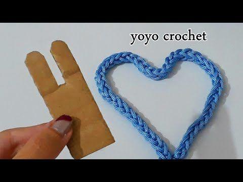 بدون ابرة كروشية أصنعى يد شنطة فقط بقطعة كرتون صغيرة سهلة وسريعة يويو كروشية Youtube Spool Knitting Crochet Patterns Crochet