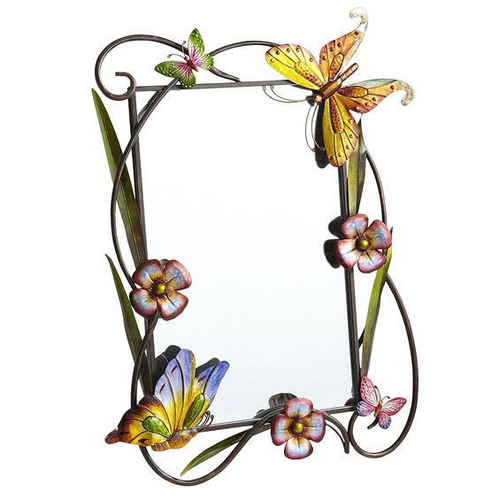 Butterfly & Flower Mirror - Pier1 US