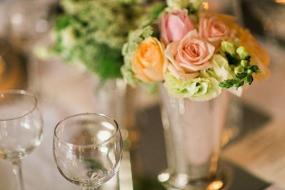 Pêssego, rosa e verde! Delicado e romântico!