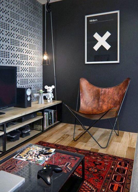 Manly Mens Bachelor Pad Living Room Decor Ideas Redrugs Bachelor Pad Living Room Dark Living Rooms Apartment Living Room