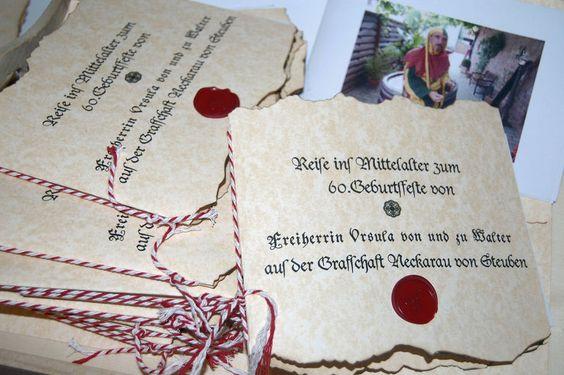 10x+Einladung+Mittelalter+Hochzeit+Geburtstag+Dank+von+Kartenboutique ...