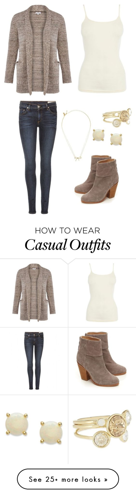 """""""Brown sweater - Casual"""" by brittjade on Polyvore featuring rag & bone, Warehouse, CC, Ted Baker, Victoria Townsend and Kate Spade"""