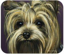 Yorkie Mouse Mat - price includes VAT & UK post. Lovely gift for a Yorkie lover.