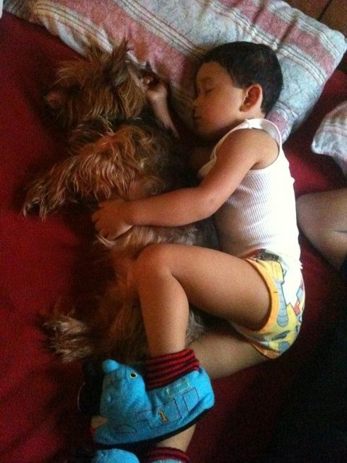 #dogs #kids Julian and his best friend Lil Mia. Photo credit: LaLa: