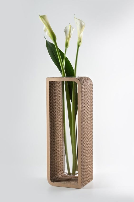 Cardboard vase candle holder to be by lessmore for Cardboard candle holders