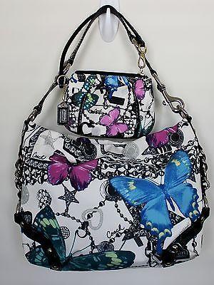 coach bag outlet store online c5u6  coach butterfly purse