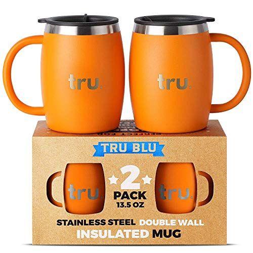 Insulated Coffee Mug With Lid Set Of 2