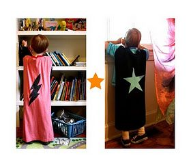 Easy superhero capes for a superhero party... Or any time the kiddos feel like saving the world.