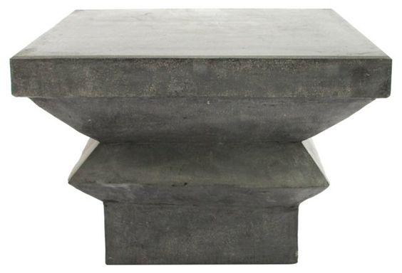Cast Concrete Side Table