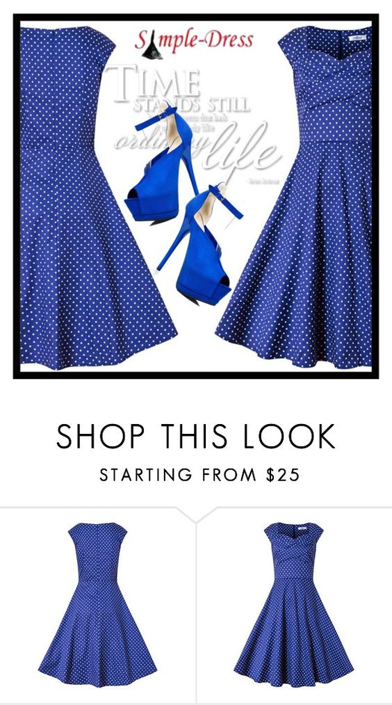 """SimpleDRESS 5."" by fashionunion-1 ❤ liked on Polyvore featuring vintage"