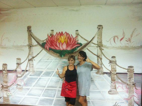 pintura mural. centro de belleza Mayte Nicolas., Valdemoro