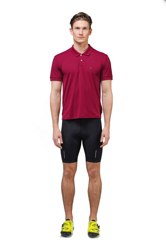 Huez Pro Piqué Polo. An essential summer piece to keep you looking sharp while retaining that sought after performance on your bike.