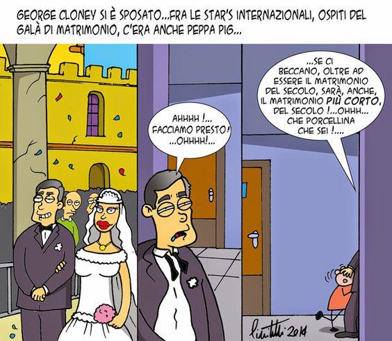 """ITALIAN COMICS - """" Il mondo in una Vignetta"""" di Ignazio Piscitelli: il matrimonio del secolo…"""
