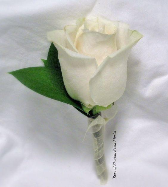 White rose boutonniere. #RoseOfSharon    http://Pinterest.com/Treypeezy  http://OceanviewBLVD.com