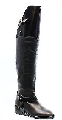 Top Shop NEW Black Women's 5.5 Fashion Over the Knee Leather Boots $210- DEAL   eBay