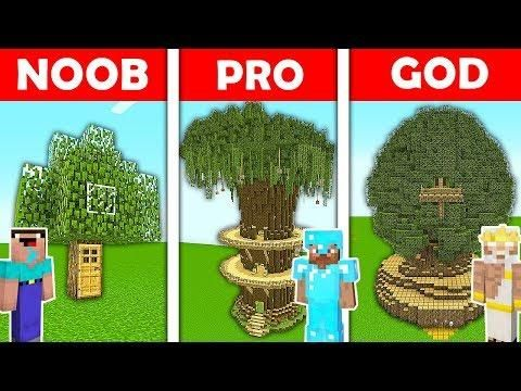 Minecraft Battle Noob Vs Pro Vs God Secret Tree House Vs Tree