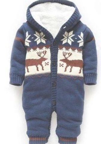 Infant Newborn Baby Boys Camouflage Elk Jumpsuit Romper Bodysuit Clothes Outfit