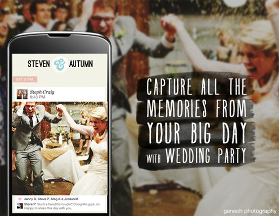 See every moment of your wedding with Wedding Party! Your guests will have a BLAST taking photos, and you'll love collecting all their pictures in a simple & beautiful app. Oh, and it's totally FREE!