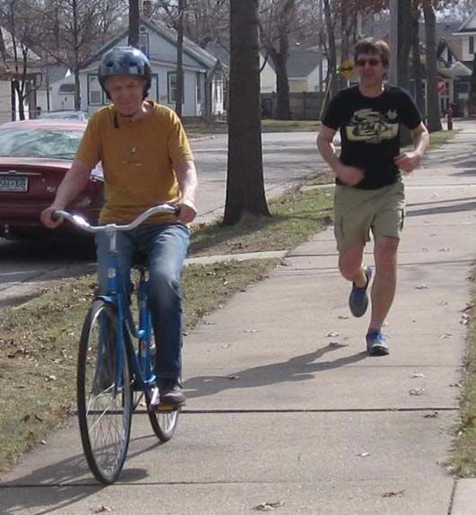 Son Does the Most Touching Thing for his Senile Father-in-Law  -- He Teaches Him to Ride a Bike Again!