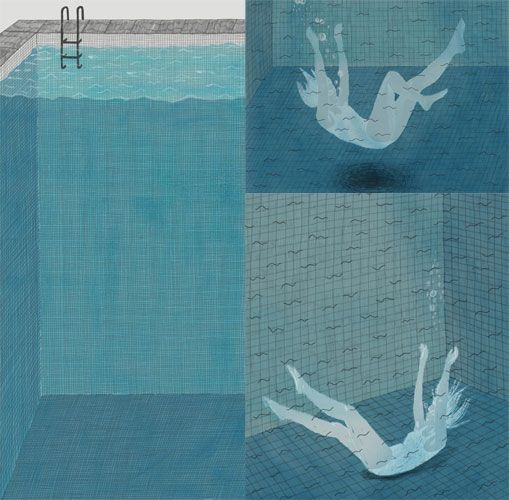 collages and swimming. pretty much sums up my life  http://www.rosiegainsborough.com/illustration.html