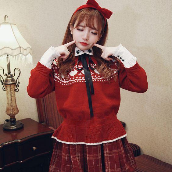 Princess sweet lolita sweater BoBON21wool over warm close skin soft sweater Nearly T1296 sweater level