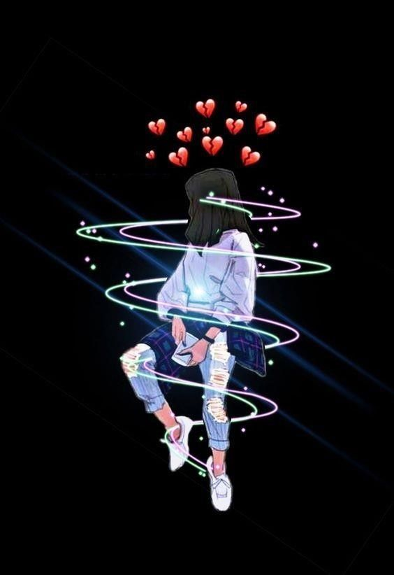 A Girl With A Broken Heart Emoji Wallpaper Cute Emoji Wallpaper Cartoon Wallpaper Iphone