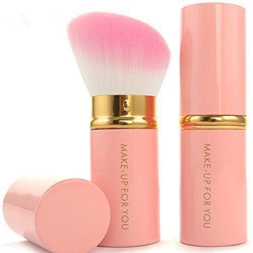 MAKE-UP FOR YOU Aisxle Retractable Kabuki Makeup Brush - Pink / Gold