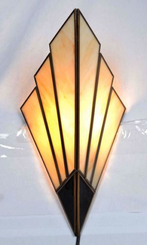 Art deco wall sconces wall lights 1930 39 s style to be for Art deco style lamp