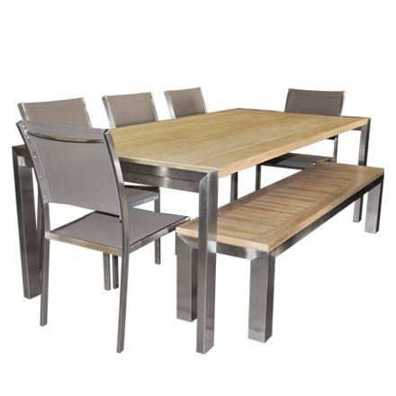 plank table planks and outdoor dining set on pinterest