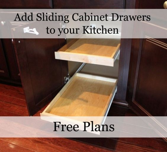 Cabinet Drawers, Cabinets And Kitchens On Pinterest