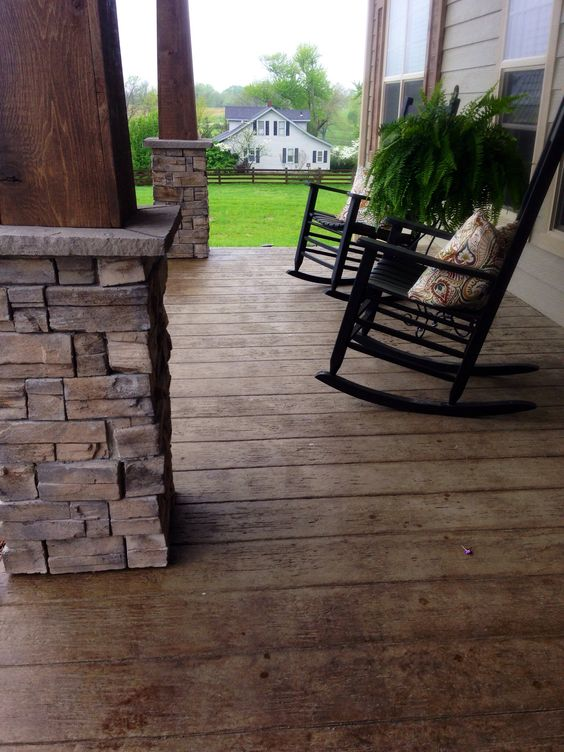 Stamped Concrete Patio Looks Like Wood : Stamped concrete that looks like wood frontporch