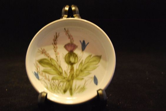 Buchan Finest Stoneware Thistle Design Pin/Trinket Dish.Coaster?Scottish