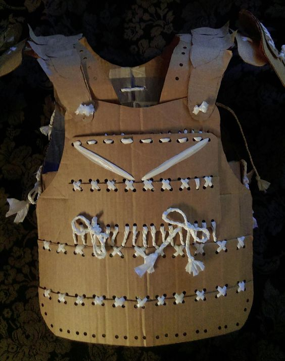 Pin by anthony nuon on cardboard samurai armor home made for Cardboard armour template