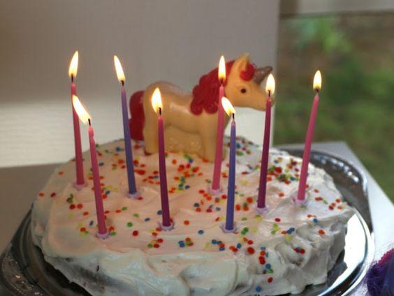 Kuchen mit Schoko Einhorn